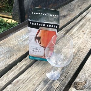 Sharper Image jumbo wine glass - holds a bottle